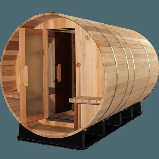 Barelova sauna so satnou a pristreskom